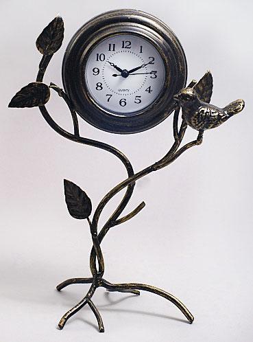 Часы металлические Ветка с птичкой, 30см 405-187