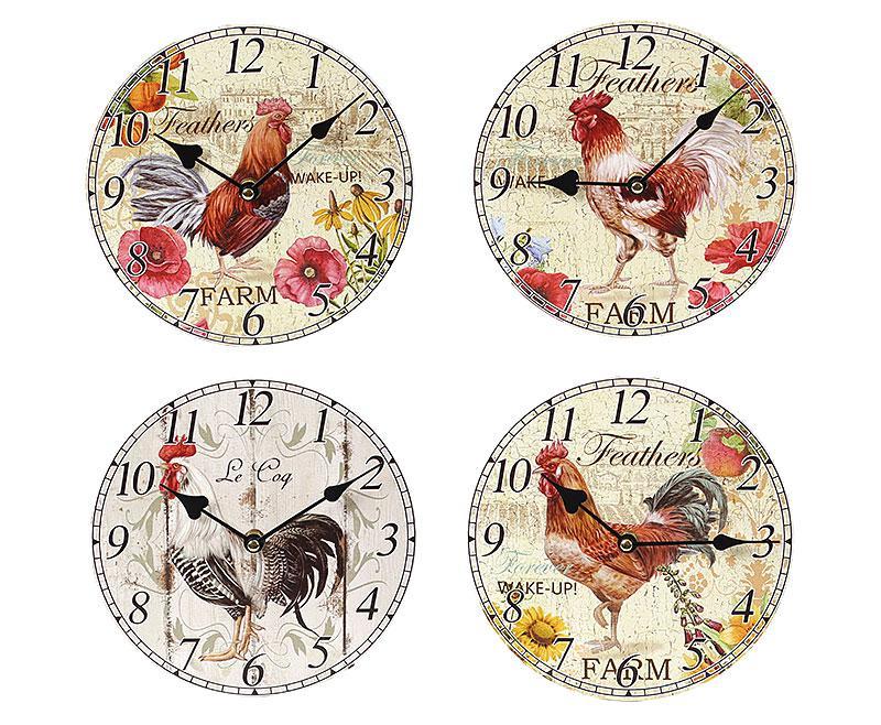 Часы настенные деревянные Петух 487-220