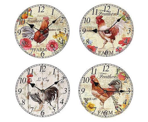 Часы настенные деревянные Петух 487-220, фото 2