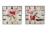 Часы настенные керамическая плитка Букет 487-239