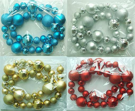 Декоративная гирлянда из пластиковых шаров, 4 вида 105-899, фото 2