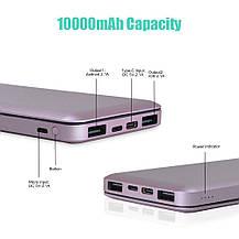 Power Bank Внешний Аккумулятор USB C TONV 10000mAh, фото 3