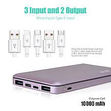 Power Bank Внешний Аккумулятор USB C TONV 10000mAh, фото 2