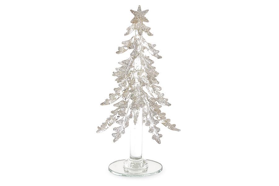 Декоративная стеклянная елка 18см шампань 172-185