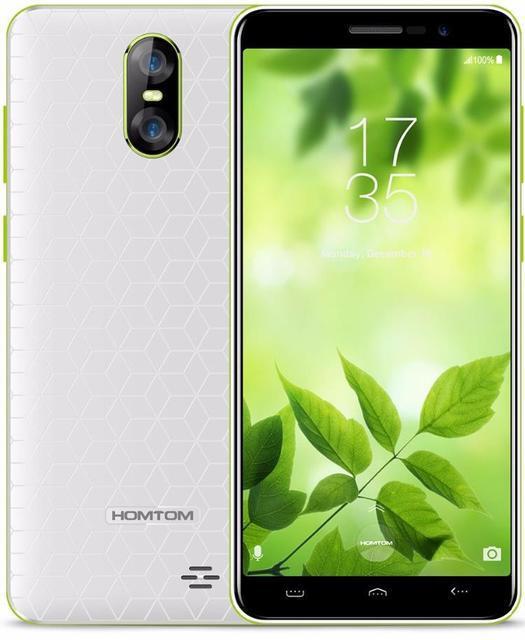 "Смартфон Homtom S12 White, 1/8Gb, 8+2/5Мп, MTK6580, 4 ядра, 2sim, 5"" IPS, 2750mAh, GPS, 4G"