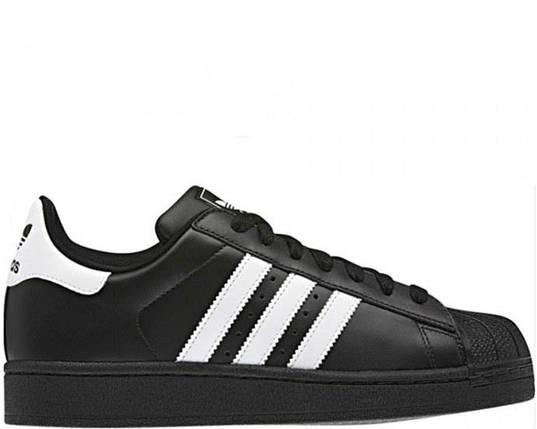 Кроссовки в стиле Adidas Superstar II Black/White, фото 2