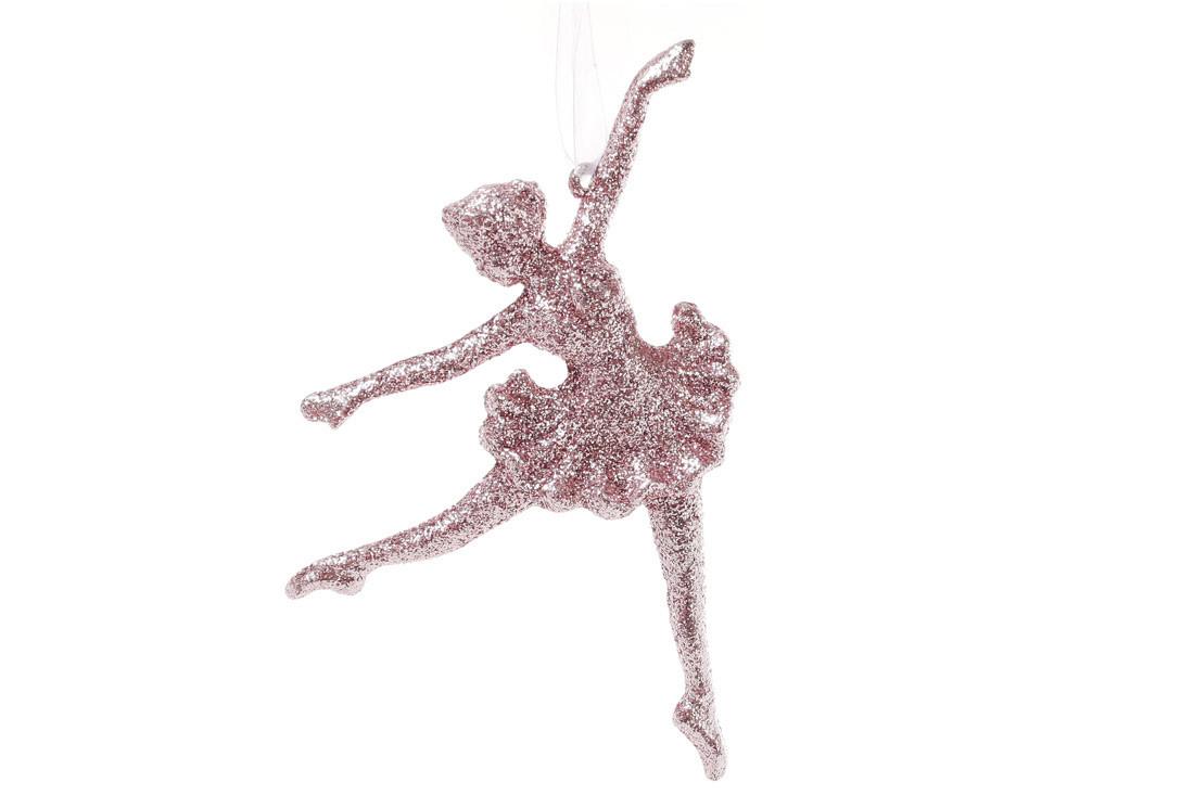 Елочная подвеска Балерина 15см  цвет - светло-розовый, пластик, в упаковке 45шт. (788-451)