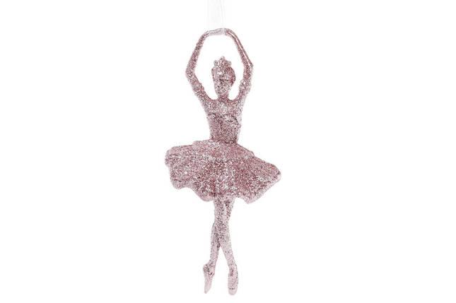 Елочное украшение Балерина 17см цвет - светло-розовый, пластик, в упаковке 90шт. (788-471), фото 2