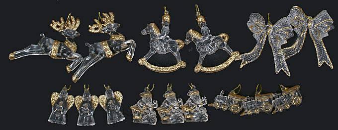 Набор новогодних украшений, 6 видов в дисплей коробке NY13-231, фото 2
