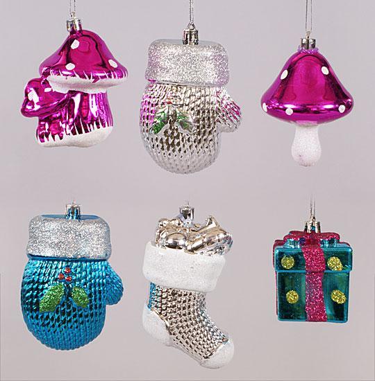 Новогоднее украшение, 6 видов в дисплей коробке NY13-234