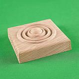 Деревянный декор для мебели. Розетки квадратные.Код Р17, фото 4