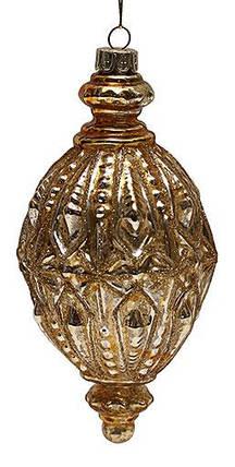 Елочное украшение 15,5см антик золото, стекло, в упаковке 6шт. (172-212), фото 2