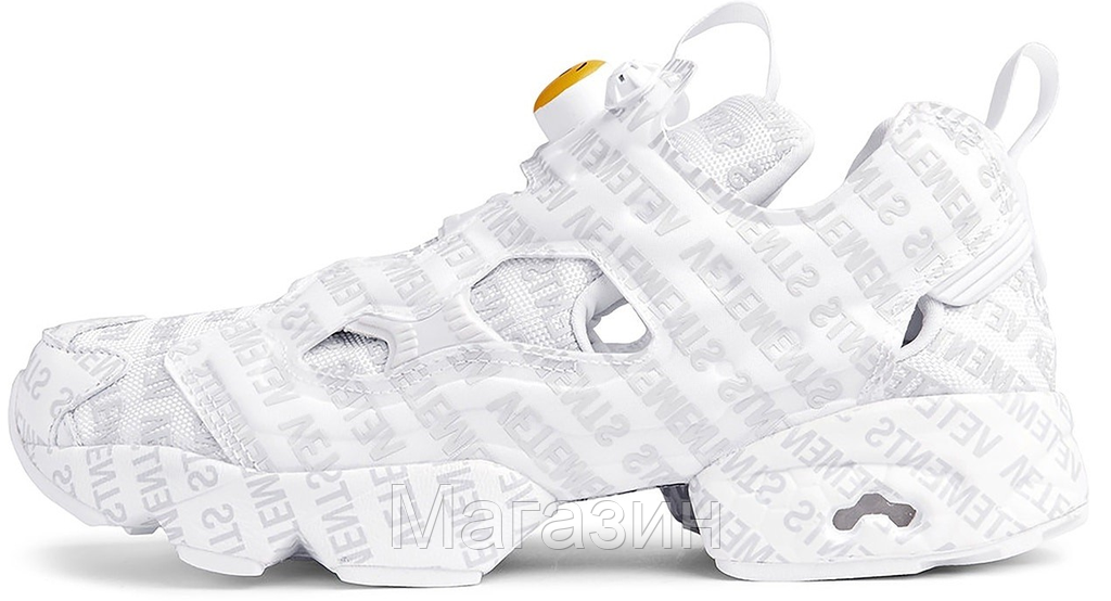 Распродажа Женские кроссовки Vetements x Reebok Instapump Fury OG Emoji (в  стиле Рибок Инста Памп) b9ab28c14f1