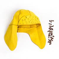 Шапка для сауны Ушанка женская цветной натуральный войлок, Saunapro