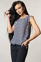 Легкая летняя шифоновая блуза без рукавов 42-52 размеры, фото 1