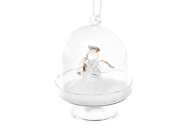 Елочное украшение с фигуркой ангела внутри 10см, стекло, в упаковке 12шт. (NY28-401), фото 2
