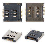 Конектор SIM-карти для мобільних телефонів LG D285 Optimus L65 Dual SIM, D325 Optimus L70 Dual SIM, D380 L80 Dual SIM, E455  Optimus L5 Dual SIM, E615