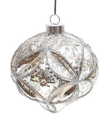 Елочное украшение в форме луковицы 8см, стекло, в упаковке 6шт. (773-191), фото 2