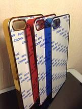 Чехол для 2D сублимации пластиковый Iphone 4/4S синий хром , фото 2