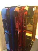 Чехол для 2D сублимации пластиковый Iphone 4/4S синий хром , фото 3