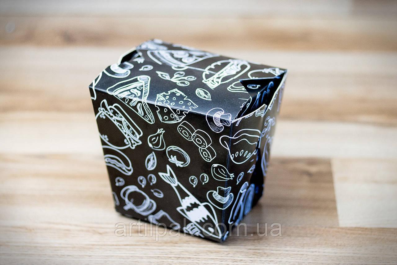 Коробка для лапші 105*85*65 ЧОРНА 750/500г