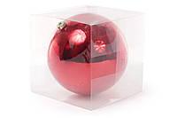 Шар декоративный, 20см, цвет - красный, глянец 147-497