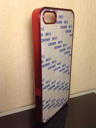 Чехол для 2D сублимации пластиковый Iphone 4/4S красный хром, фото 2