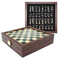 Шахматы «Византийская Империя», зеленые, Manopoulos, 20х20 см (088-0101SK)