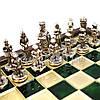 Шахматы «Византийская Империя», зеленые, Manopoulos, 20х20 см (088-0101SK), фото 4