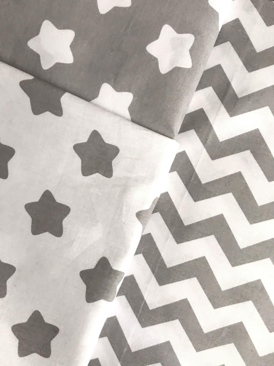 Постельное белье полуторное Звезды (100 % хлопок)