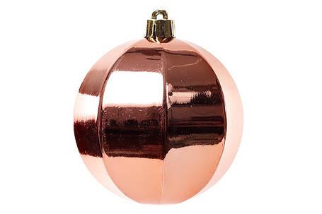 Набор елочных шаров 8см, цвет - медный, 3 шт: глянец 147-408, фото 2