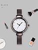 Женские часы графитовые с браслетом Миланского Плетения Mesh Straps, фото 2