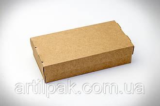 Коробка для суші на 2 ролла 200*100*50 КРАФТ