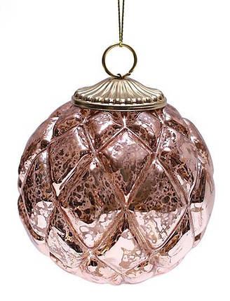 Елочный шар, античная медь 8см , стекло, в упаковке 6шт. (773-341), фото 2