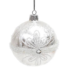 Елочный шар 8 см с декором NY37-176