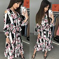 Платье с цветами реплика Dolce & Gabbana