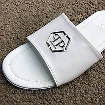 Philipp Plein Slide Sandals Accused White реплика, фото 3