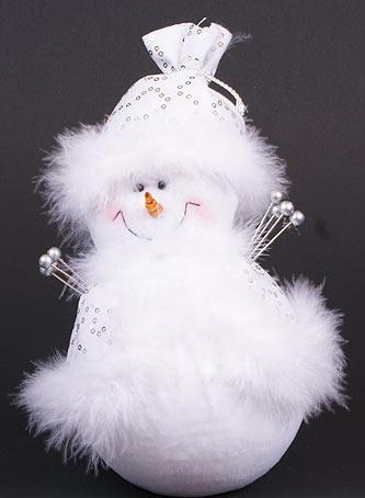 Мягкая новогодняя игрушка Снеговик, 23см (199-S21)