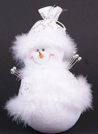 Мягкая новогодняя игрушка Снеговик, 23см (199-S21), фото 2