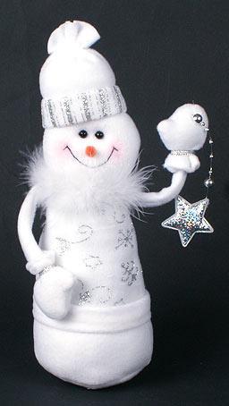 Мягкая новогодняя игрушка Снеговик, 26см (199-S17)