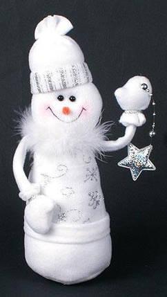 Мягкая новогодняя игрушка Снеговик, 26см (199-S17), фото 2