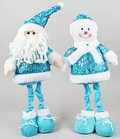 Новогодняя мягкая игрушка Санта и Снеговик 44см SN21-11