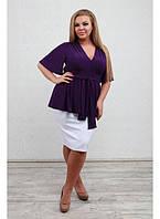 Женская туника Крокус фиолет / размер 48-72 / большие размеры