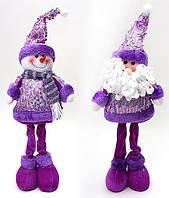Новогодняя мягкая игрушка Санта и Снеговик 44см SN21-27