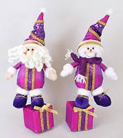 Новогодняя мягкая игрушка Снеговик, Санта, 35см SN35-44