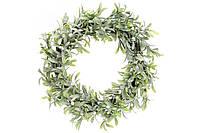 Новогодний венок Омела из листьев в инее 758-301