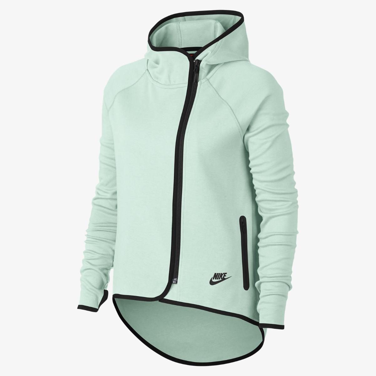 44c3dd64d0ce Женская Толстовка Nike Sportswear Tech Fleece Full-Zip Cape 908822-006  (Оригинал)