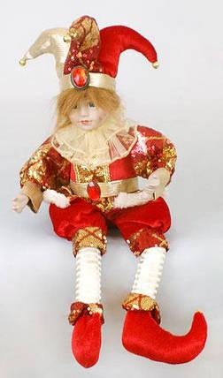 Новогодняя музыкальная игрушка Шут 40см, 1шт. (NY14-211), фото 2