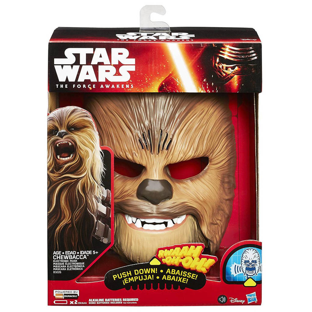"Электронная маска Чубакка Вуки ""Звездные войны"" со звуком - Chewbacca Wookiee, Star Wars, Hasbro"