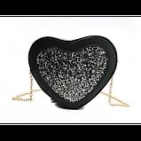 Романтична жіноча сумка у формі серця, фото 2